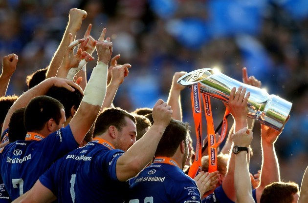 Leinster lift the trophy