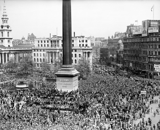 World War Two - UK & Commonwealth - Home Front - VE Day - London - 1945