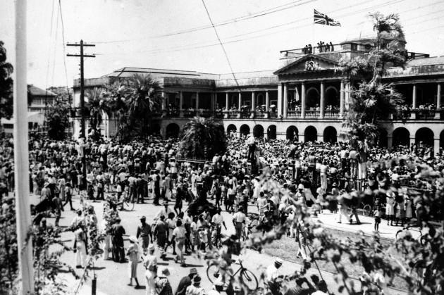 WWII BRITISH GUIANA VE DAY 1945