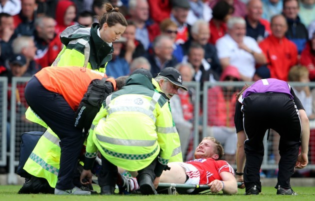 Ruairi Deane sustains an injury
