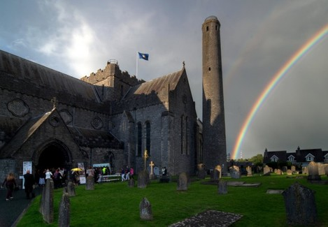 Rainbow at St. Canice's Cathedral