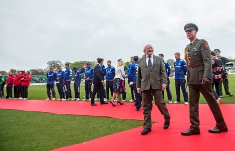 Michael D. Higgins at the game