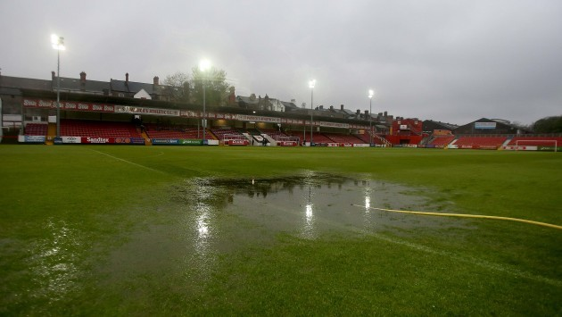 A general view of Richmond Park after the game was postponed