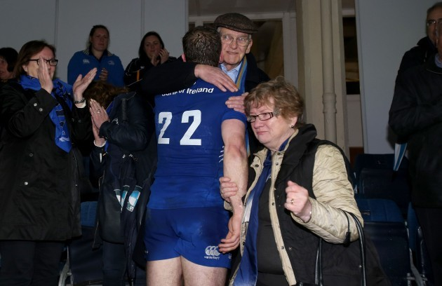 Gordon D'Arcy with his dad John and mum Peggy
