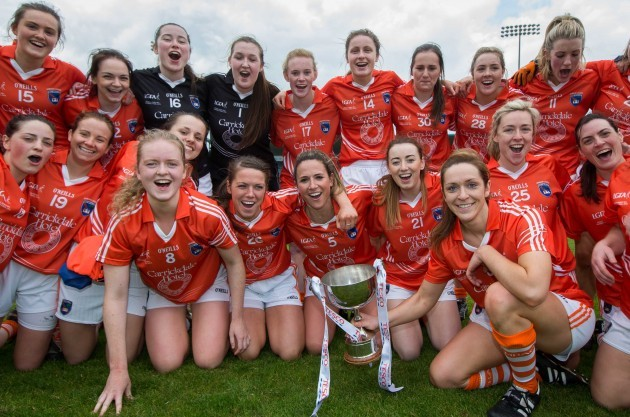Armagh celebrate with the trophy