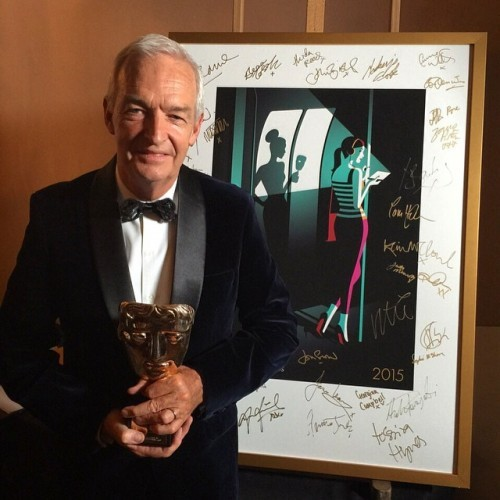 Jon Snow is awarded with this year's BAFTA fellowship - here he is backstage at the @houseoffraser #BAFTATV Awards! #BAFTA #awards #television