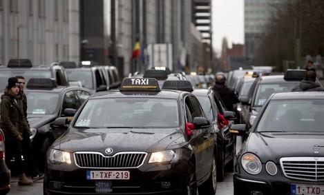 Belgium Taxi Strike