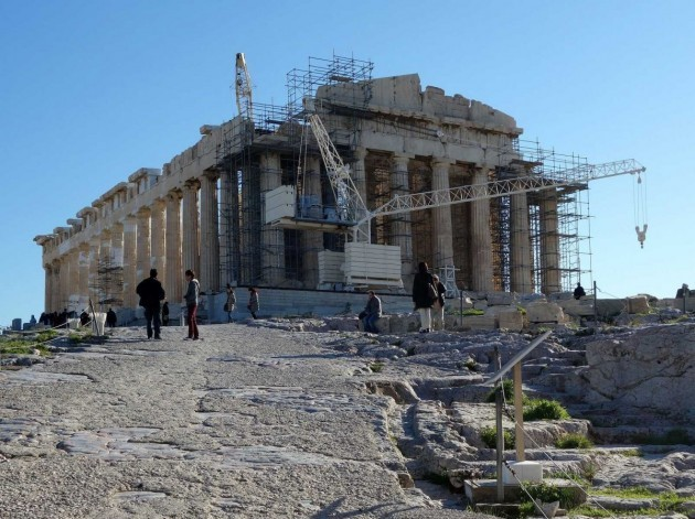 parthenon-with-scaffolding-athens-greece