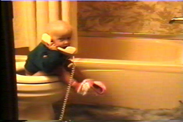 Lacy On the Phone & Toilet