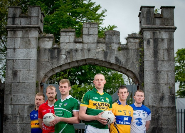 Tipperary's Brian Fox, Michael Shields (Cork), Darragh Treacy (Limerick), Kerry's Kieran Donaghy, David Tubridy (Clare) and Thomas O'Gorman (Waterford)