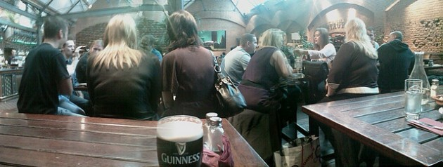 Saturday night in Market Bar pub in Dublin