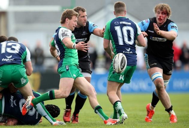 Kieran Marmion kicks forward
