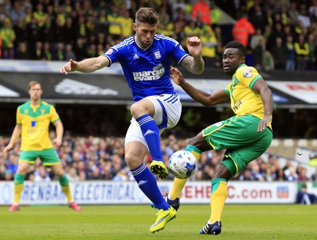 Soccer - Sky Bet Championship - Play Off Semi Final - First Leg - Ipswich Town v Norwich City - Portman Road
