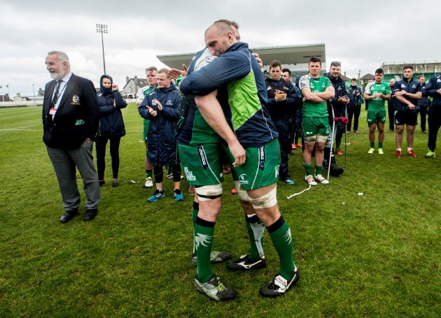 Michael Swift with John Muldoon after the game