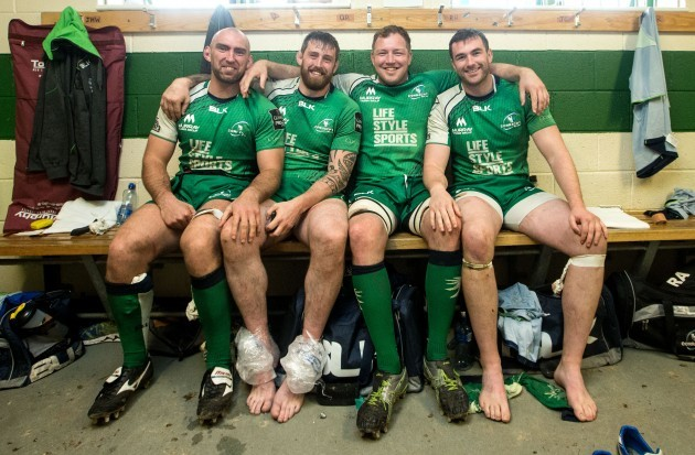 John Muldoon, Aly Muldowney, Michael Swift and Andrew Browne after the game