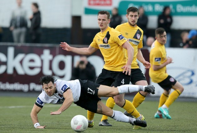 Richie Towell with Seanan Clucas