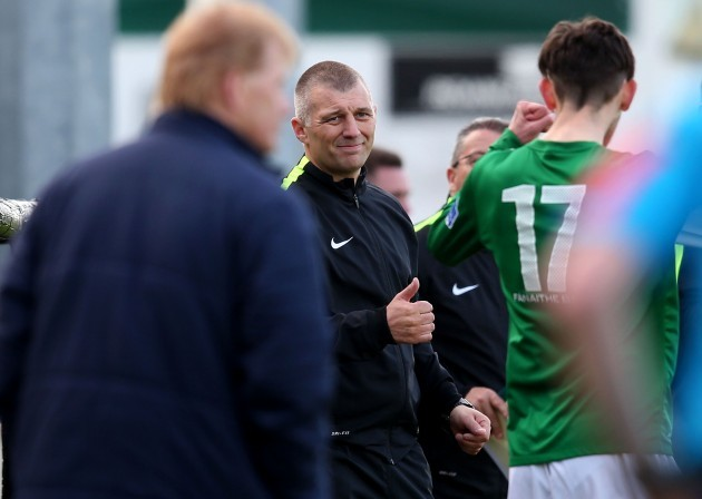 Trevor Croly at the final whistle