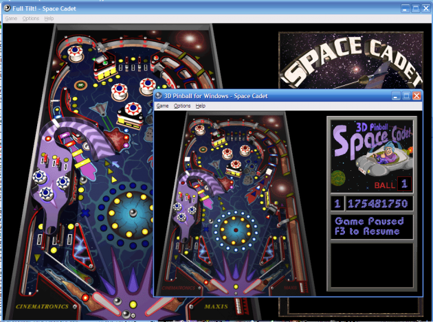 Space_Cadet_Pinball,_Visual_Comparison_of_Full_Tilt_and_Windows_XP_versions