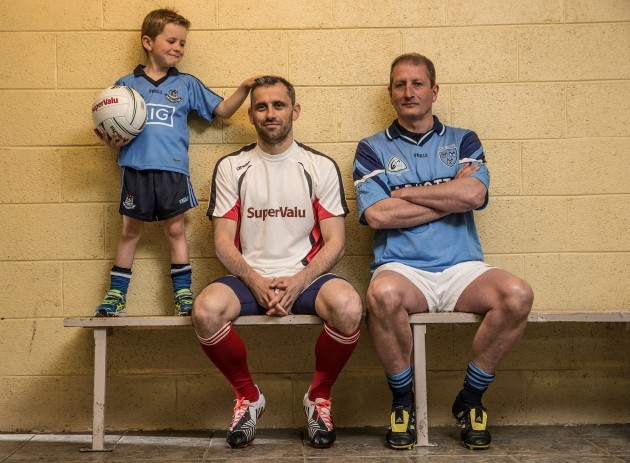 Alan Brogan, his son Jamie and Mick Galvin