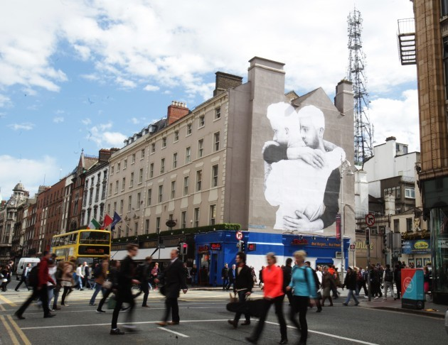 Same Sex Mural. The work of Irish arti