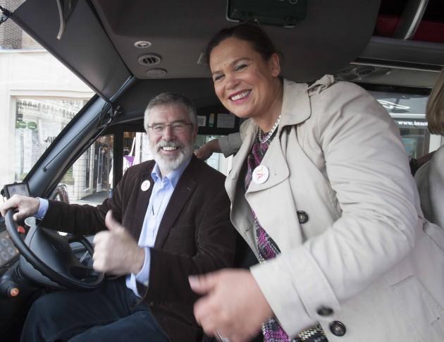 Pictured is Sinn Fein President Gerry Ad
