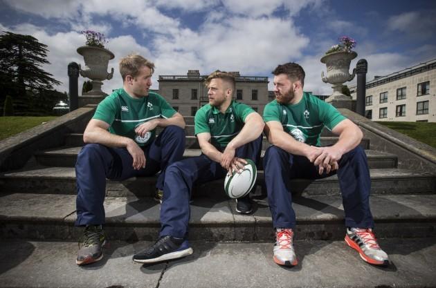 Luke Fitzgerald, Ian Madigan and Sean O'Brien