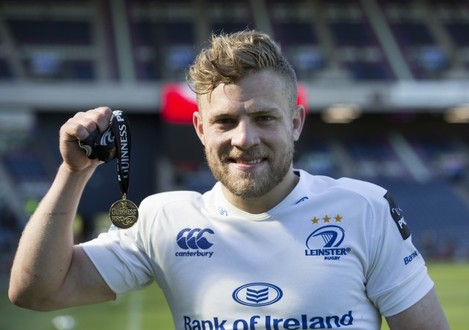 Ian Madigan with the Man of the Match award after the game
