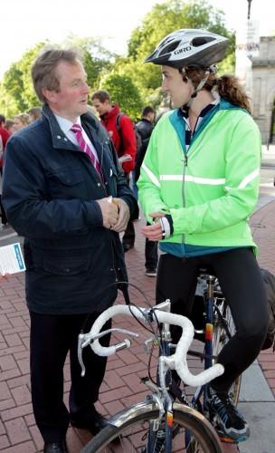 An Taoiseach Enda Kenny TD pictured talk