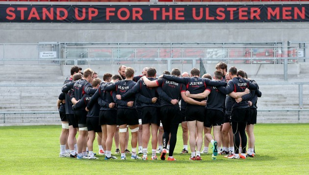 View of the Ulster team