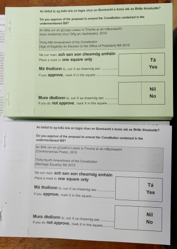Pictured are ballots for the Referendums