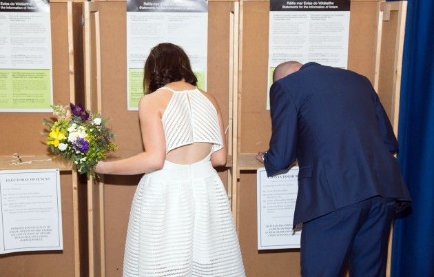 Newly Weds Vote in Referendum-3 (1)