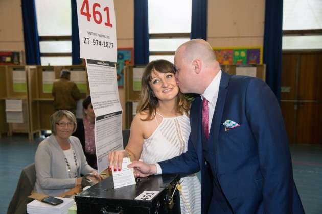Newly Weds Vote in Referendum-7 (2)