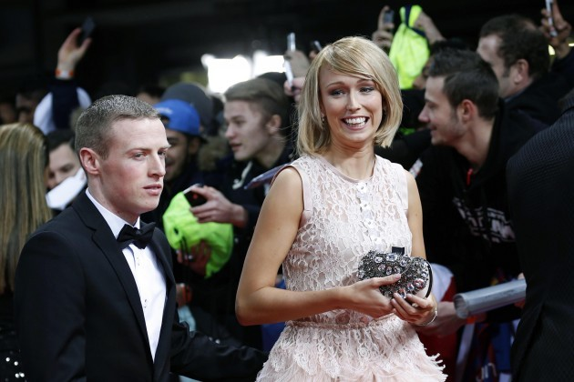Stephanie Roche arrives with boyfriend Dean Sambra