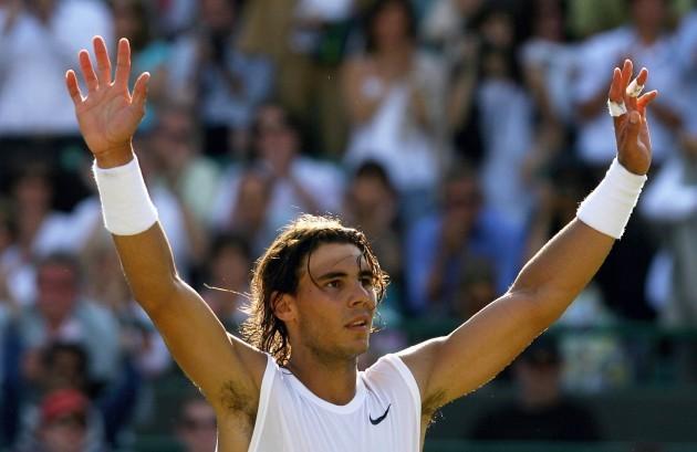 Rafael Nadal celebrates 30/6/2008