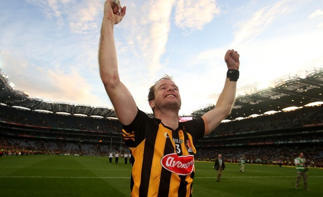 JJ Delaney celebrates at the end of the game
