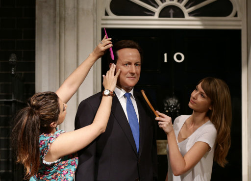 David Cameron wax figure
