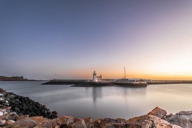Sunrise at the Howth lighthouse, Dublin, Ireland