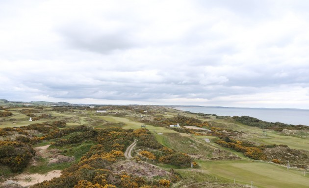 A view of the Royal County Down Golf Club