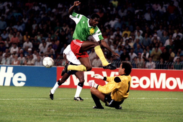 Soccer - World Cup Italia 1990 - Quarter Final - England v Cameroon - Stadio San Paolo