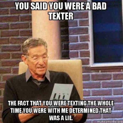 dating a bad texter