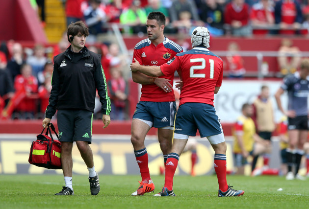Duncan Williams  consoles an injured Conor Murray