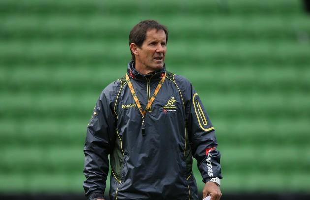 Australia Wallabies Head Coach Robbie Deans during the training