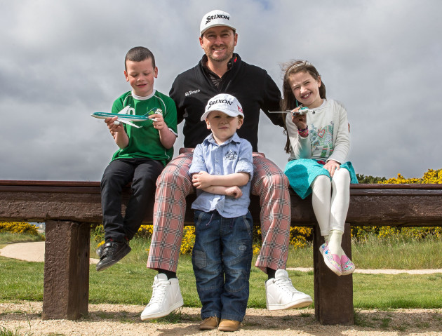 Graeme McDowell with Ian Millmore, PJ  Kearney and Aine Mitchell