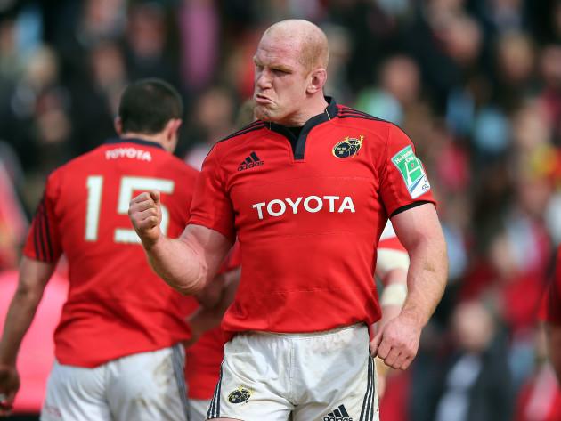 Paul O'Connell celebrates