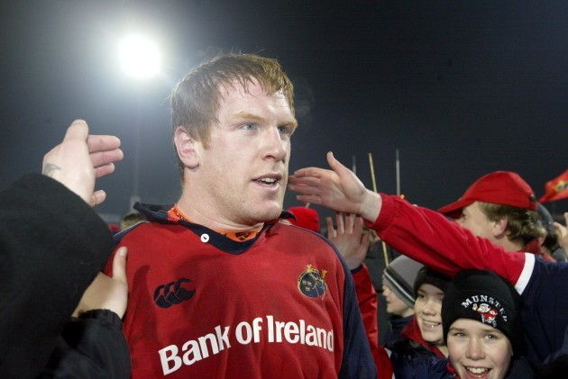 Paul O'Connell at the end of the match
