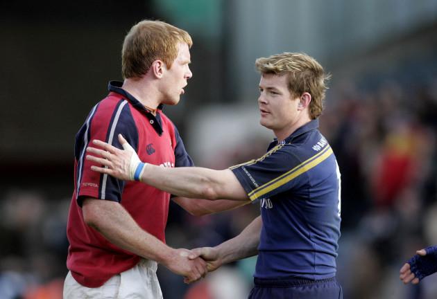 Brian O'Driscoll congratulates Brian O'Driscoll congratulates Paul O'Connell