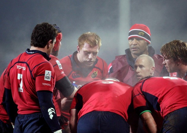 Paul O'Connell and the Munster forwards 21/1/2006