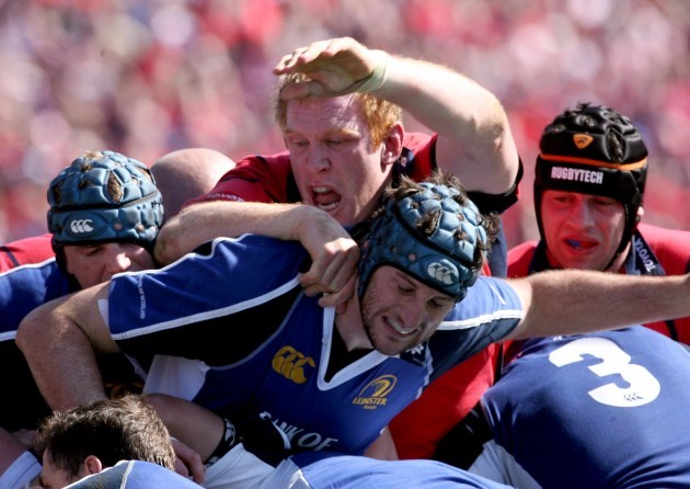 Jamie Heaslip and Bryce Williams with Denis Leamy and Paul O'Connell 23/4/2006