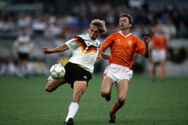 Soccer - World Cup Italia 90 - Second Round - West Germany v Holland - Stadio Giuseppe Meazza, Milan