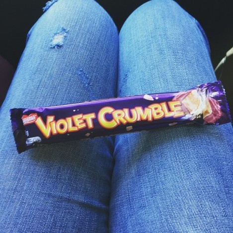 My tummy is so happy #violetcrumble #addictivesweets #iminheaven